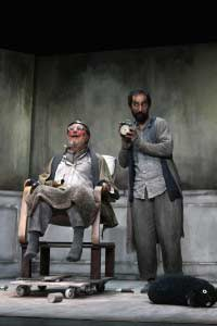 Finale di partita Teatro d'Emergenza con Antonio Ballerio e Massimiliano Zampetti