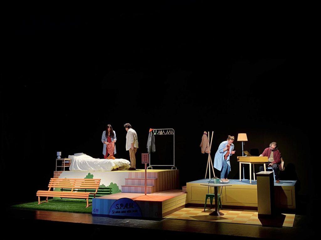 si vive una vita sola - la scenografia e gli attori